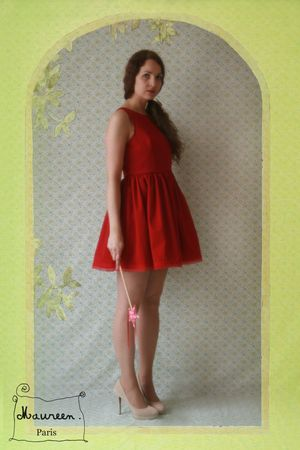 robe Daisy rouge Maureen (2)