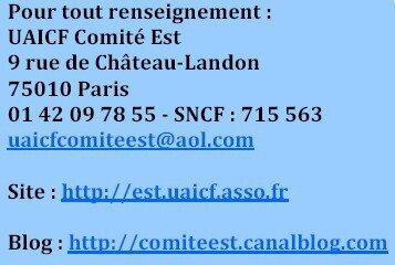 Coordonnées Comité Est UAICF