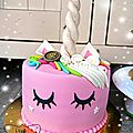 Gateau licorne { rose }