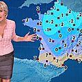 Evelyne Dhéliat jupe grise haut rose 2000 01 12 10