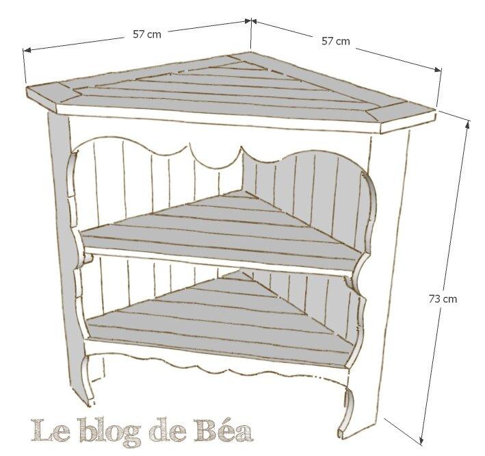 DIY meuble d'angle bas en bois de palette