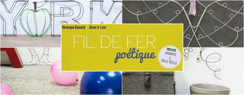 fil de fer poétique_auteur Véronique Decourty_edition Carpentier_dame la lune_livre loisir creatif_fil de fer