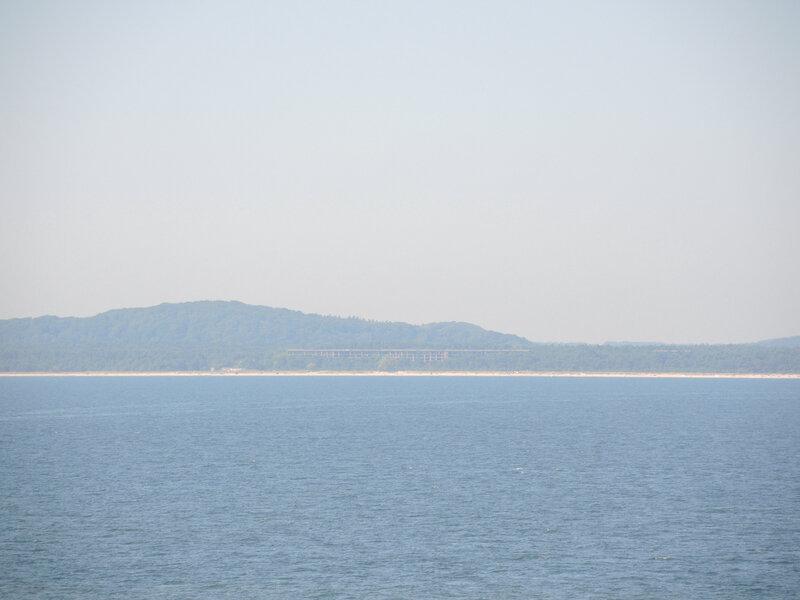 Sassnitz, vue sur Prora depusi la Baltique