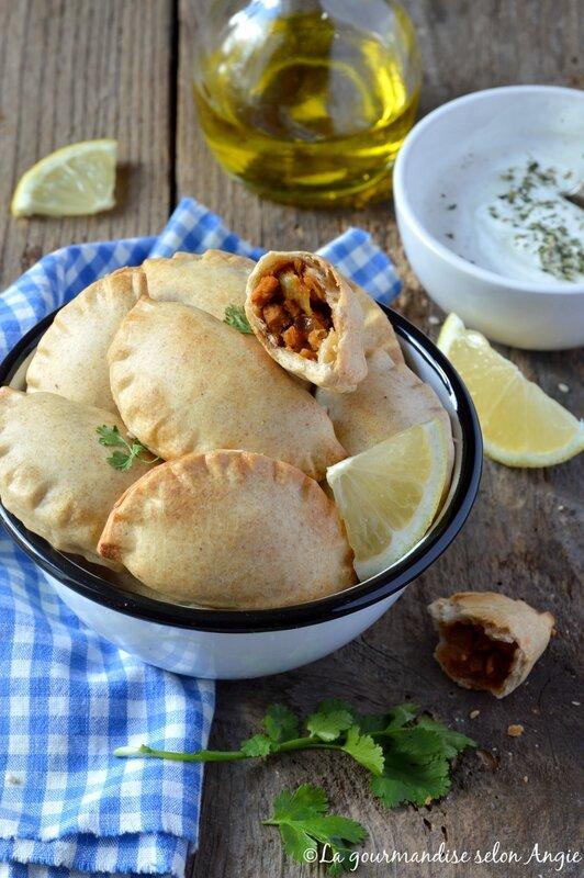 empanadas vegan épicés aux protéines de soja 2