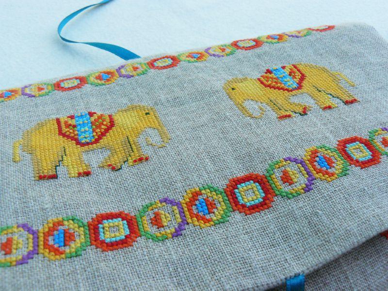Trousse de brodeuse - les éléphants
