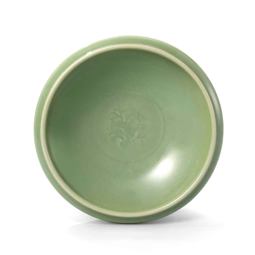 Decorative Arts Shop For Cheap Celadon Bowl With Wooden Circular Rotating Pedestal To Have A Unique National Style Bowls