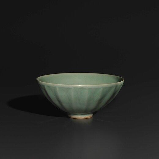 Longquan Celadon Lotus Bowl, Song dynasty, 12th century