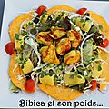 Salade exotique poulet et mangue au curry