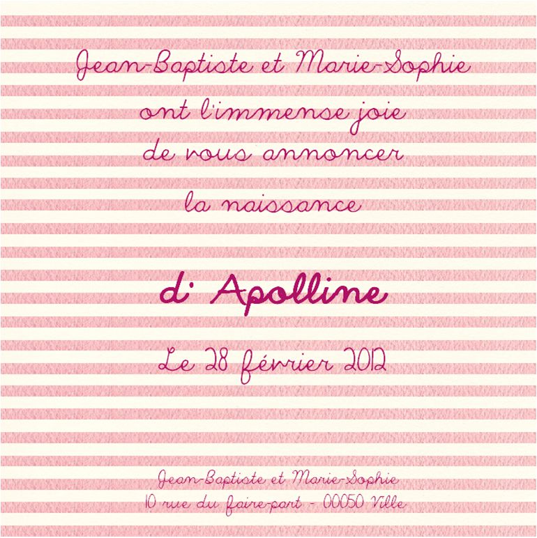 Faire-part d'Apolline - 280212