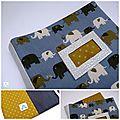 Mag Attack Carnet de Santé éléphants bleus