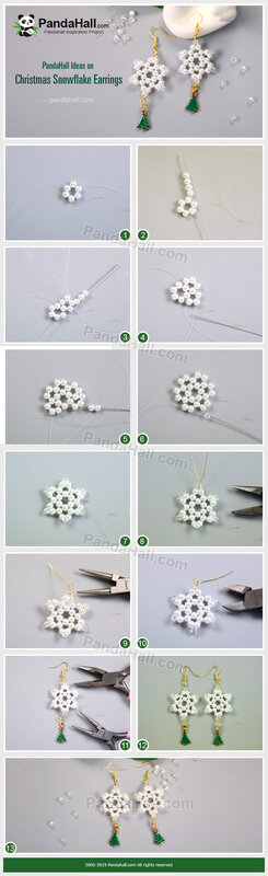2-PandaHall-Ideas-on-Christmas-Snowflake-Earrings
