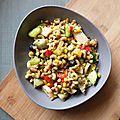 Salade de pâtes de légumes
