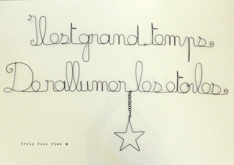 Message fil de fer, phrase fil de fer, wire words, trois fois rien, appolinaire, citation