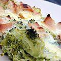 Jambon de pays brocolis et parmesan