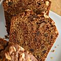 Cake marbré chocolat-café aux pépites de chocolat & noix