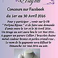 Concours sur facebook !
