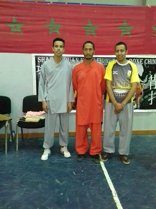 Nourddine et Tijani avec un maître de Kung Fu
