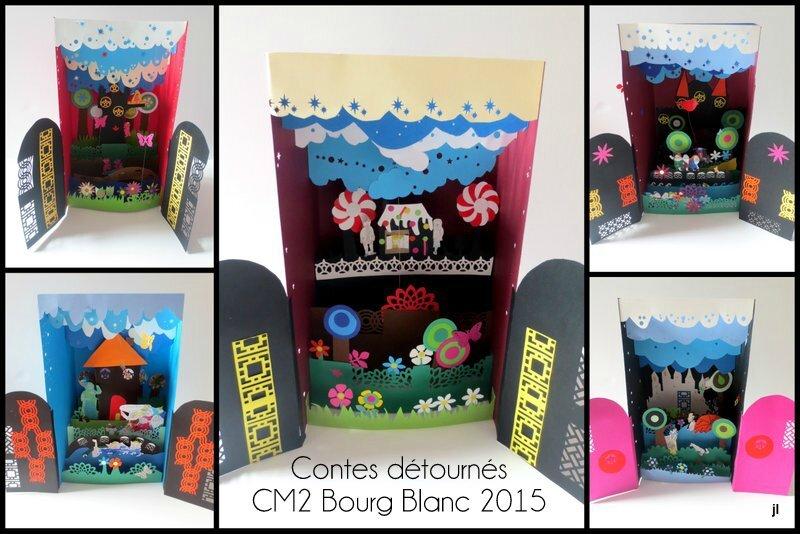 Projet Contes en dioramas CE2 CM1 CM2 Bourg Blanc 2015