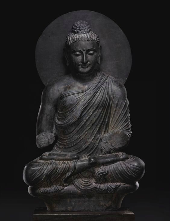 A Monumental Grey Schist Figure Of Seated Buddha Ancient Region Of Gandhara Kushan Period First Half Of 3rd Century Alain R Truong