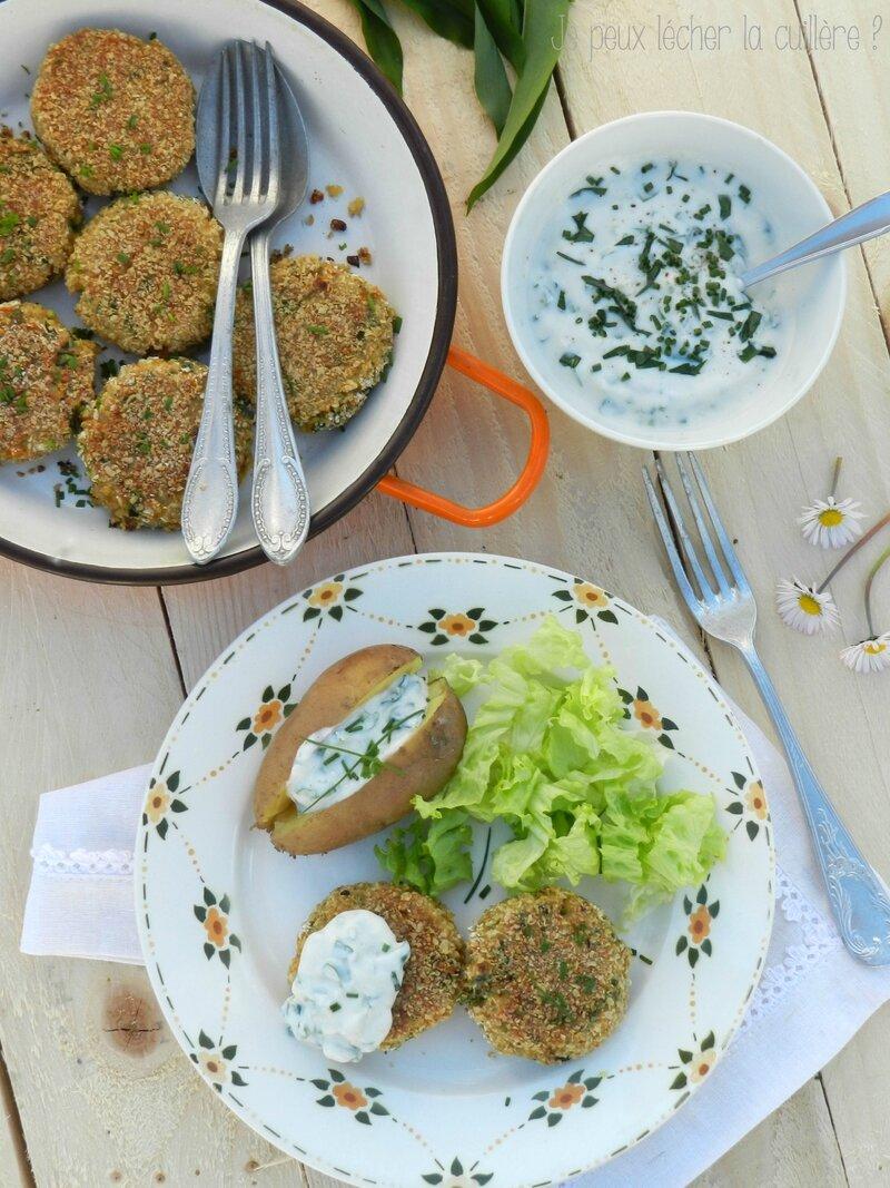 Galettes de quinoa et petits légumes 4
