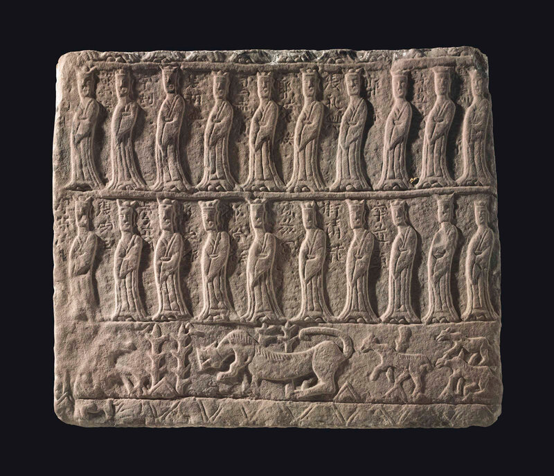 2013_NYR_02689_1255_000(a_reddish-brown_sandstone_stone_relief_early_northern_wei_dynasty_6th)
