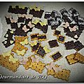 Boutons biscuits, chocolat et papillons