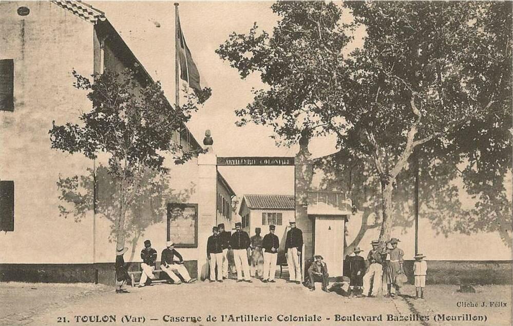 CPA Toulon Caserne de l´Artillerie Coloniale