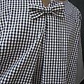 Guimpe COLETTE en coton vichy noir et blanc (6)