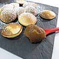 Crêpes néerlandaises ou poffertjes et leur beurre de pommes