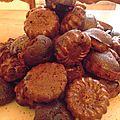 Petits gâteaux de noël, le choc du chocolat.