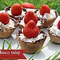 Mini choco tulip {mascarpone, fraise et meringue}