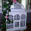 Cage en bois style shabby avant / apres