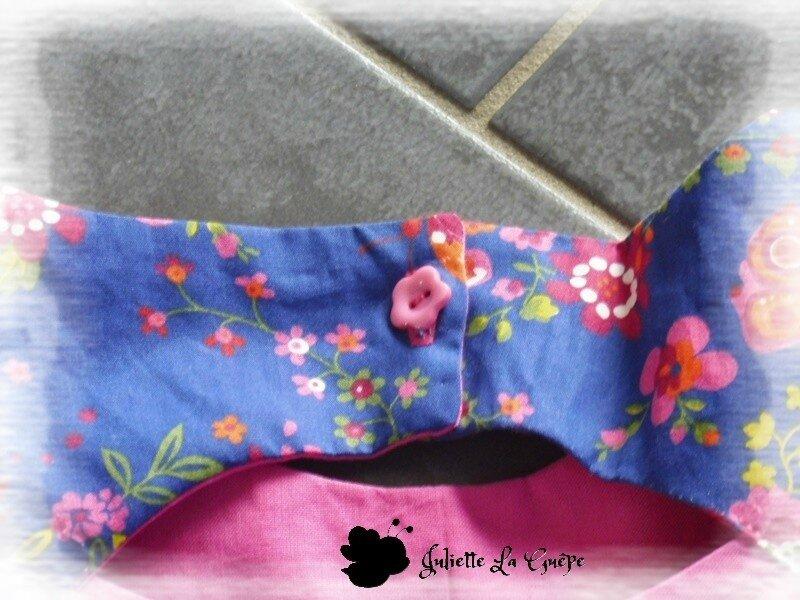 Paisible bleu à fleurs 4