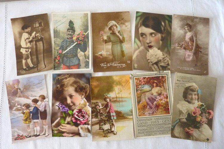 Brocante Merdrignac 20-07-14 cartes postales anciennes