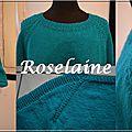 Mon 1er top-down: un flax pullover