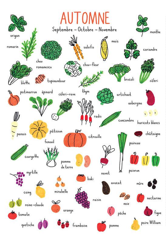 245a33c5042 Calendrier des fruits et légumes de saison - Les 3 sœurs