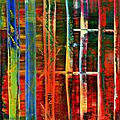 Exhibition of abstract works by gerhard richter on view at museum frieder burda