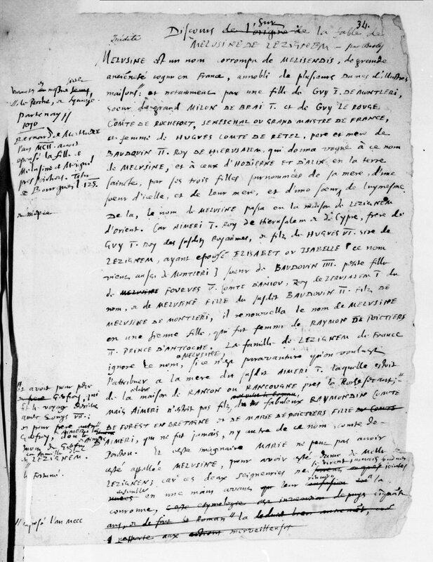 Discours sur la fable de Mélusine de Lusignem par Besly (3)
