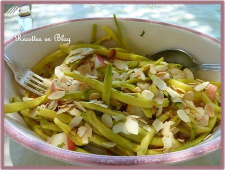 salade de haricots beurre amandes nectarines2