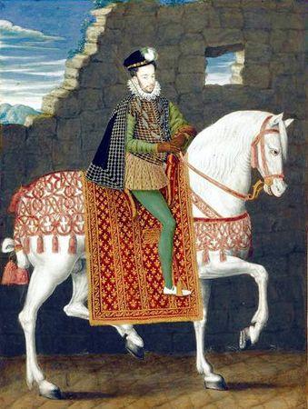 Portrait équestre d'avènement d'Henri III vers 1574-1575