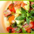 Kemia tomate-concombre aux herbes : maroc