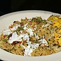 Le retour de l'inde dans ma cuisine : mushroom pulao et mango salsa