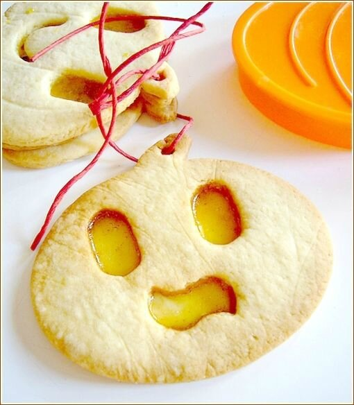 Biscuits citrouille pour halloween