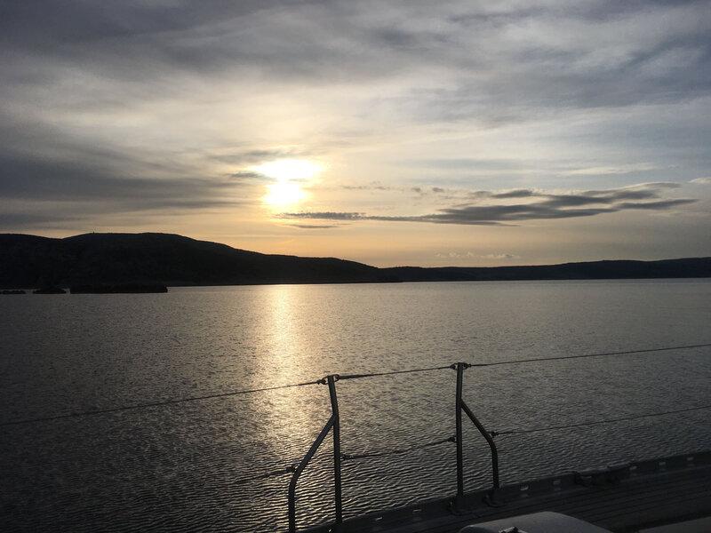 Les îlots de Hr Kamenjak, coucher de soleil sur le Velebitski Kanal, 10 mars 2020