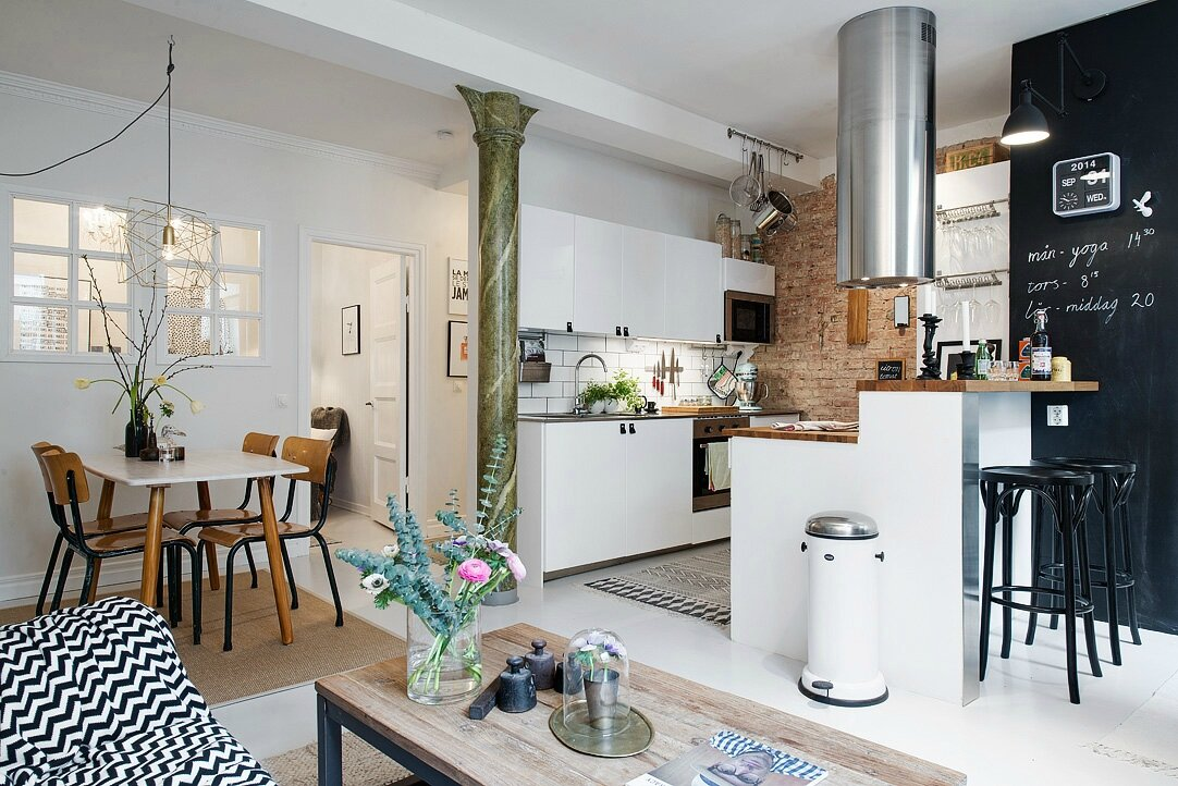 Cuisine Ouverte Dans Un Petit Espace Sonia Saelens Deco