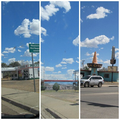 2015 route 66 arrivee à Tucumcari