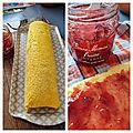 Roulé à la confiture de fraise