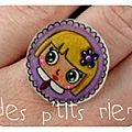 bague fillette violette
