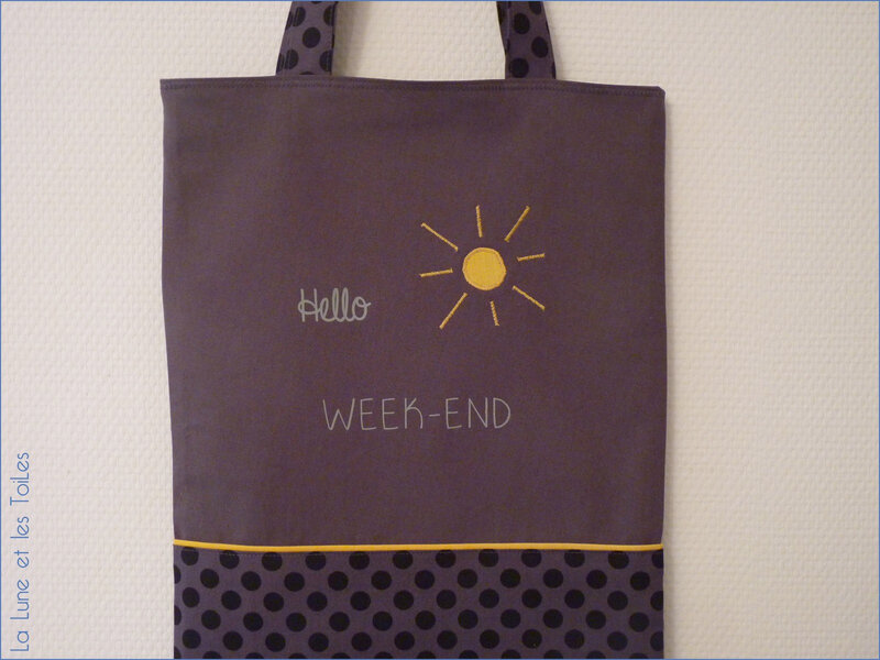 Tote bag week-end