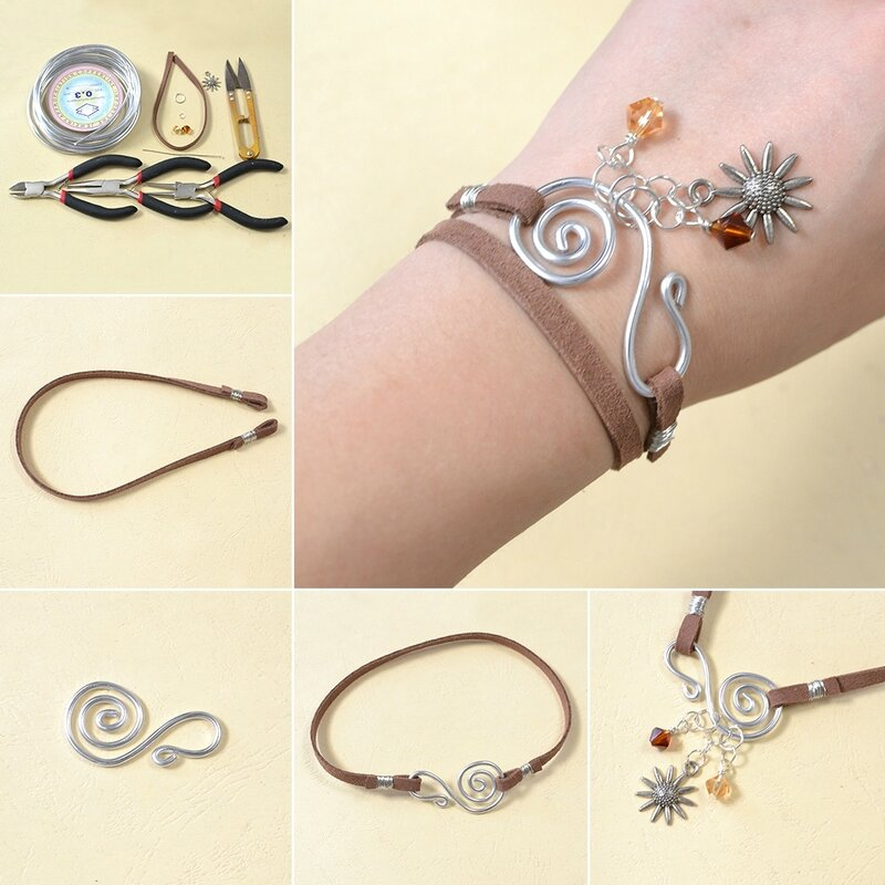 1080-Pandahall-Easy-Tutorial---How-to-Make-a-Simple-Suede-Cord-Charm-Bracelet